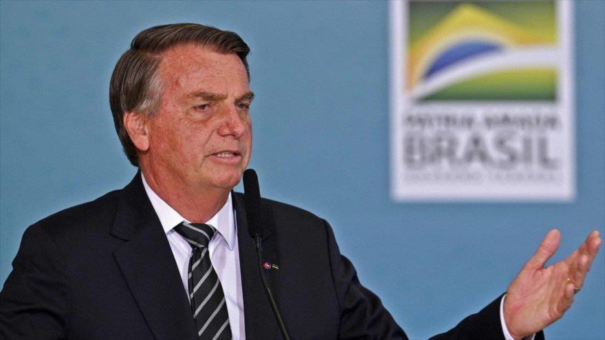 El presidente de Brasil, Jair Bolsonaro, en un discurso ante sus simpatizantes, 27 de agosto de 2021. (Foto: Reuters)