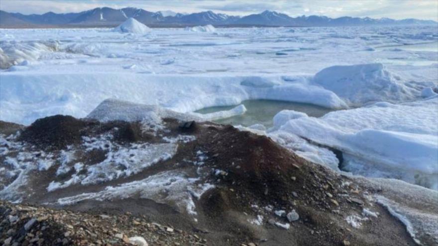 Una vista de la isla más septentrional del mundo.