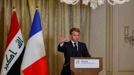 Macron dice que Francia no saldrá de Irak incluso si EEUU se va
