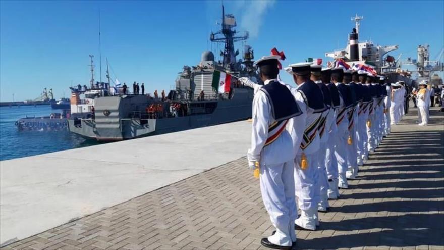 El ejercicio naval conjunto de Irán, China y Rusia en el océano indio, diciembre de 2019. (Foto: Tasnim)