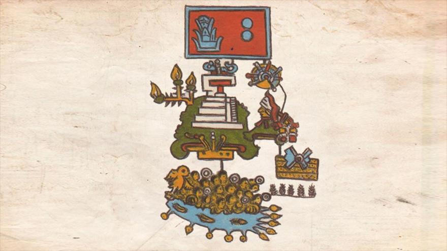 Un manuscrito azteca del siglo XVI muestra el terremoto registrado en 1507 en el estado de Guerrero, en el actual México.