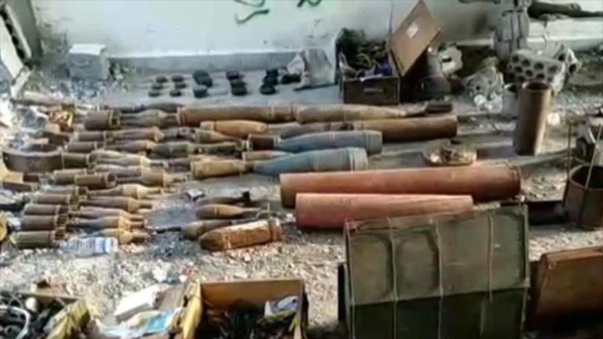 Fuerzas yemeníes hallan una fábrica de artefactos explosivos en la ciudad de Al-Zaher, en la provincia de Al-Bayda.