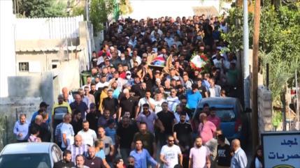 Se realiza el funeral del hombre palestino asesinado por Israel