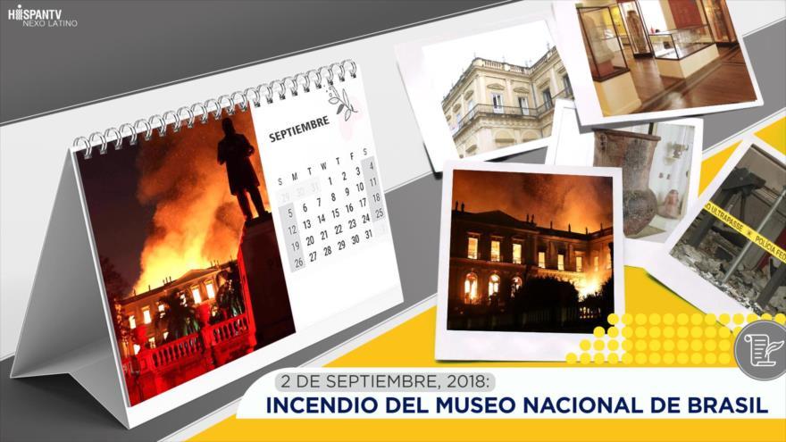 Esta semana en la historia: Incendio del Museo Nacional de Brasil