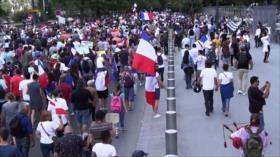Siguen manifestaciones en Francia contra vacunación obligatoria