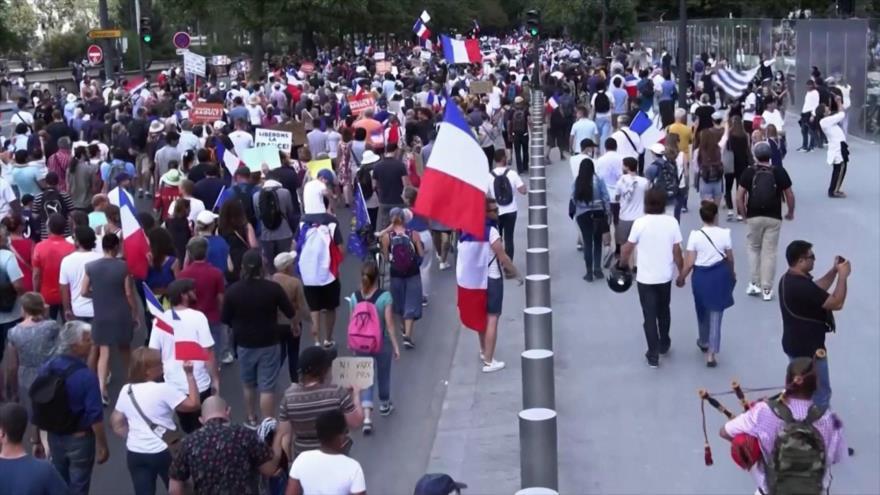 Siguen manifestaciones en Francia contra vacunación obligatoria | HISPANTV