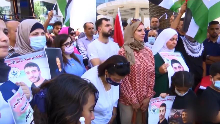 Marchan contra detención arbitraria de presos palestinos por Israel