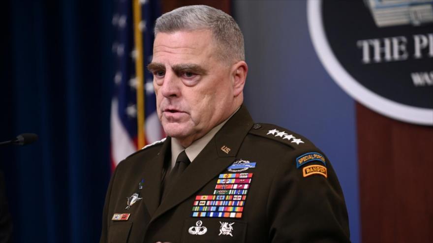 El jefe del Estado Mayor Conjunto de EE.UU., general Mark Milley, ofrece su discurso en el Pentágono, 11 de octubre de 2019. (Foto: Reuters)