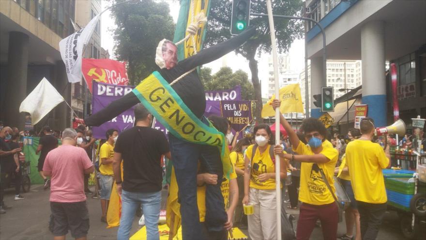 Vídeo: Miles de brasileños exigen renuncia de Bolsonaro | HISPANTV