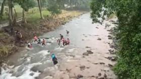 Caravanas de migrantes intentan llegar a Ciudad de México sin éxito