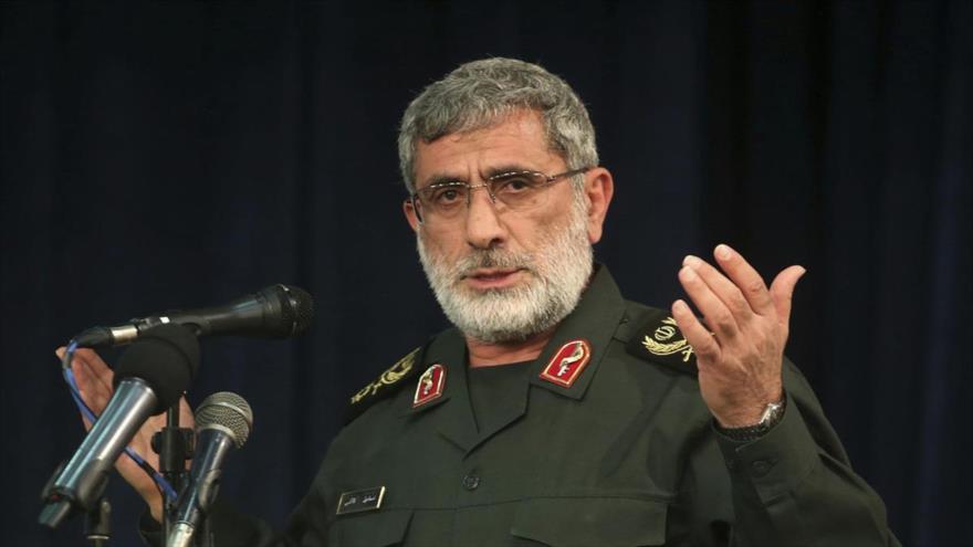 El comandante de la Fuerza Quds del Cuerpo de Guardianes de la Revolución Islámica (CGRI) de Irán, el general de brigada EsmailQaani.