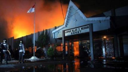 Incendio en prisión de Indonesia deja unos 41 muertos y 80 heridos