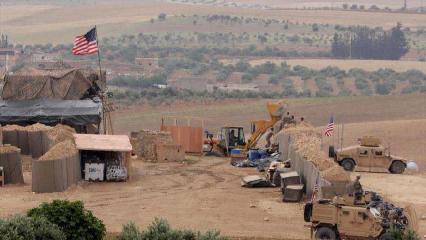 Una base estadounidense en Manbij, en la parte norteña de Alepo, Siria, mayo de 2018 (Fuente: Reuters)
