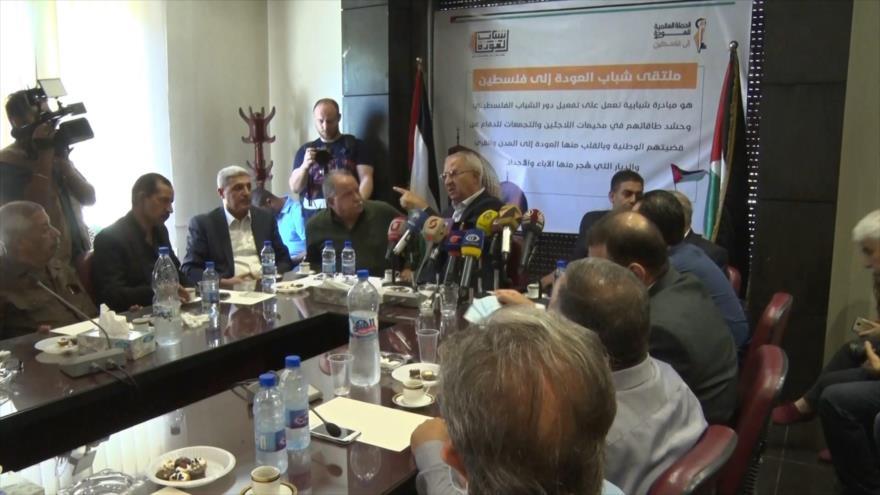 Líderes palestinos se reúnen en Siria contra ocupación israelí