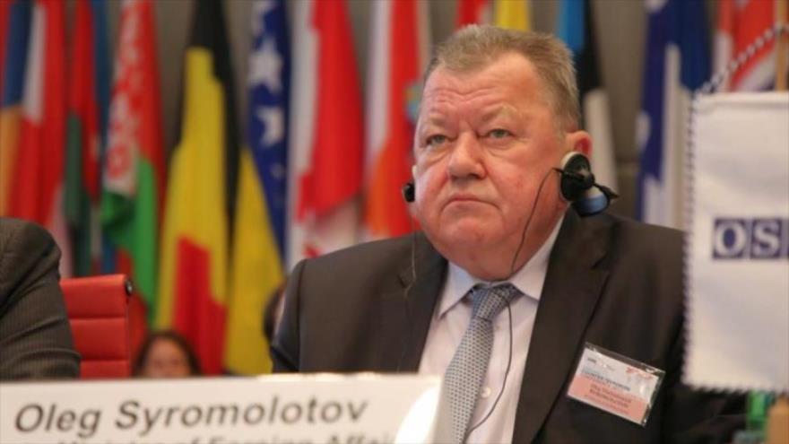 El viceministro ruso de Asuntos Exteriores,Oleg Syromolotov.
