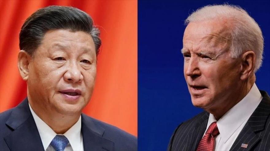 Los presidentes de China, Xi Jinping (izda.), y de EE.UU., Joe Biden.