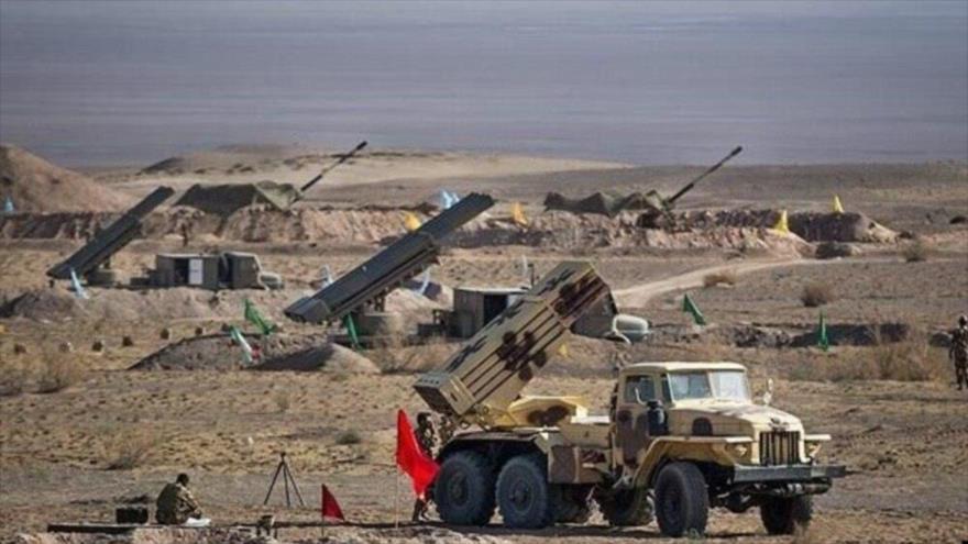 La Fuerza Terrestre del Cuerpo de Guardianes de la Revolución Islámica (CGRI) de Irán lleva a cabo un ejercicio militar.