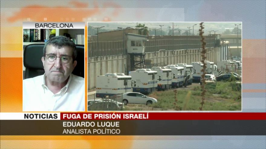 Luque: Israel está en decadencia, tras fuga de presos palestinos