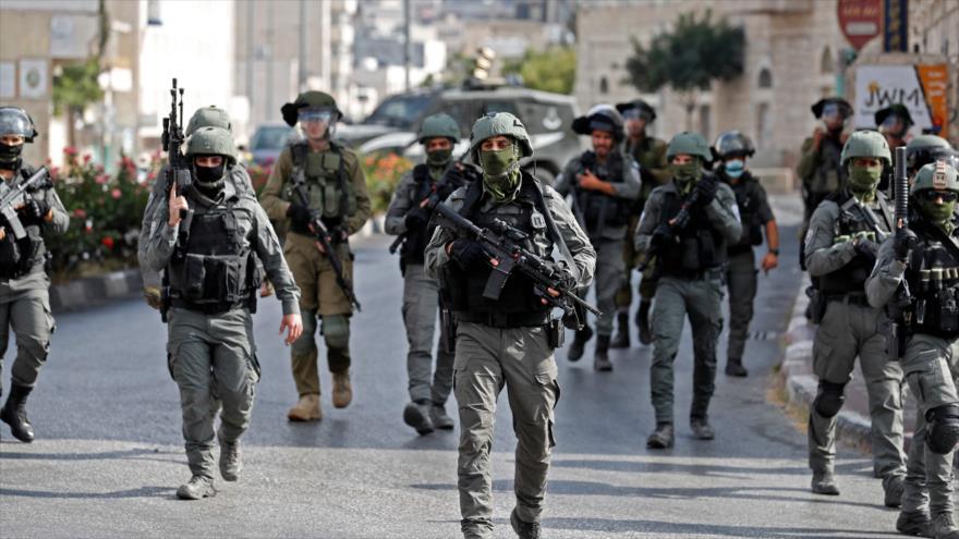 Fuerzas de seguridad israelíes en la ciudad de Beit Lahm (Belén) en la ocupada Cisjordania, 10 de septiembre de 2021. (Foto: AFP)