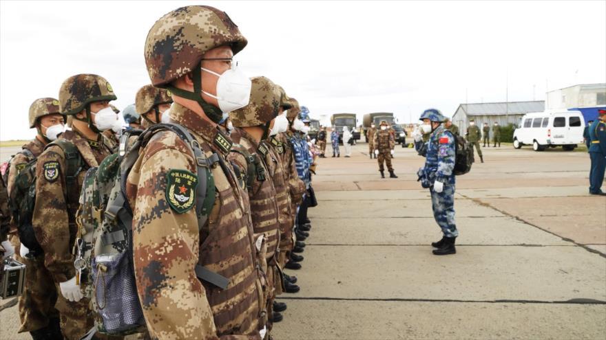 Tropas chinas llegan a Orenburg, Rusia, para participar en el ejercicio militar Misión de paz 2021, 10 de septiembre de 2021. (Foto: Xinhua)