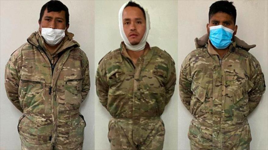 Los militares del Ejército de Bolivia detenidos en Chile. (Foto: PDI Chile)