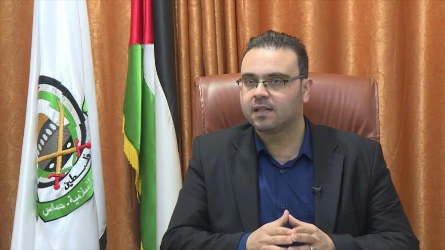 El portavoz del Movimiento de la Resistencia Islámica de Palestina (HAMAS), Hazem Qasem.