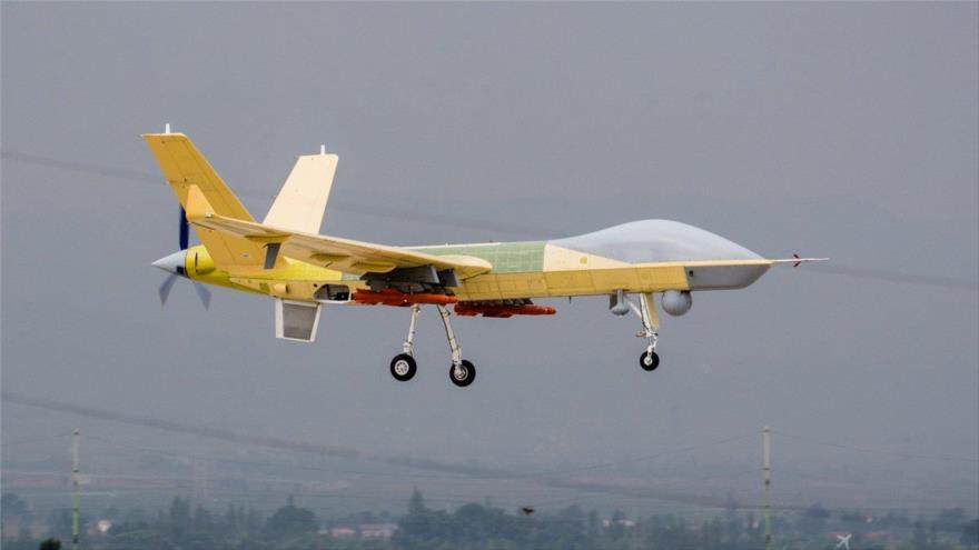 El avión no tripulado Wing Loong II, de fabricación china, que puede ser usado para operaciones militares y civiles.