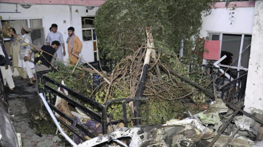 Casa de la familia de un trabajador humanitario afgano asesinado en un ataque estadounidense en Kabul, capital de Afganistán, 29 de agosto de 2021. (Foto: AP)