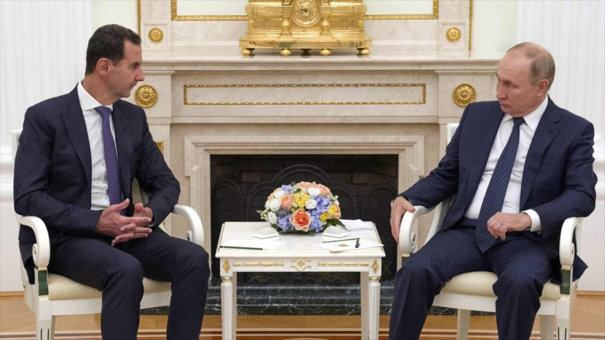 Putin, con Al-Asad, critica presencia de tropas foráneas en Siria