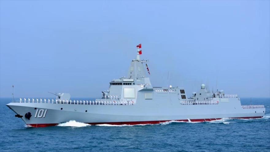 El buque militar 055 de China.