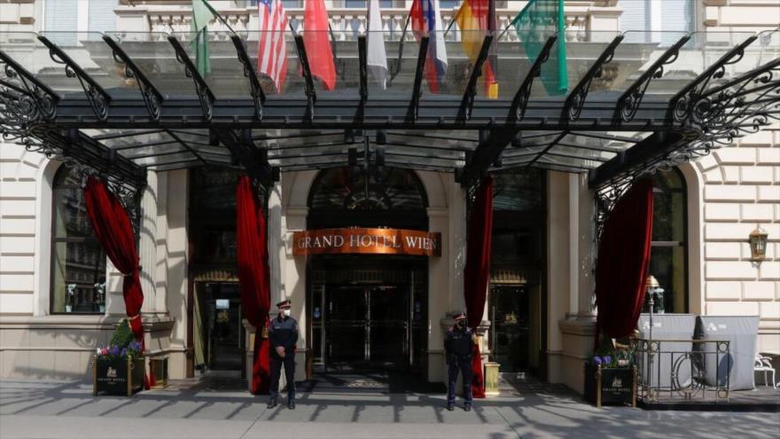 Grand Hotel Wien, el lugar de la última ronda de diálogos nucleares entre Irán y el Grupo 4+1, Viena, Austria.