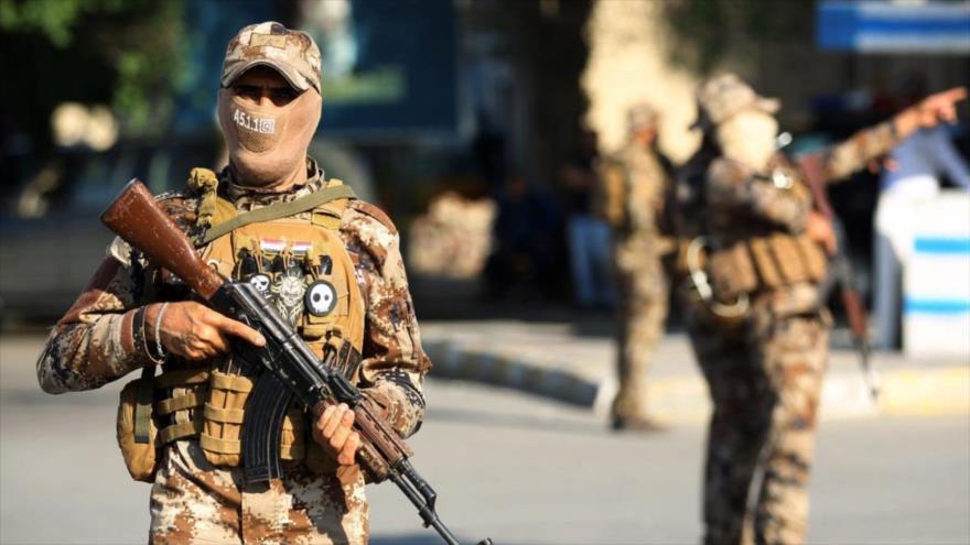Miembros de las Unidades de Movilización Popular de Irak en la capital iraquí, Bagdad, 26 de octubre de 2019. (Foto: Getty Images)