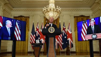 Biden anuncia alianza con Australia y Reino Unido para frenar a China