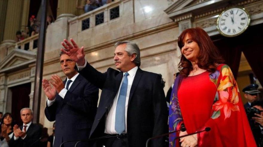 El presidente de Argentina, Alberto Fernández, y su vicepresidenta, Cristina Fernández de Kirchner.
