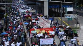 Masiva protesta contra Bukele y sus políticas en El Salvador