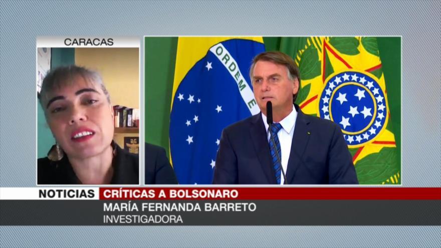 Barreto: Bolsonaro, responsable de pandemia en Brasil y A. Latina