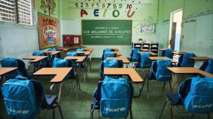 Unicef: Casi 86 millones de niños no van a clases en Latinoamérica