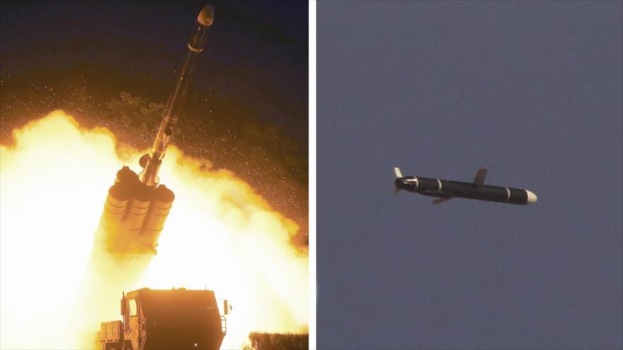 Lanzamiento de prueba exitoso de un misil de crucero de Corea del Norte el 11 o el 12 de septiembre. (Foto: Rodong Sinmun)