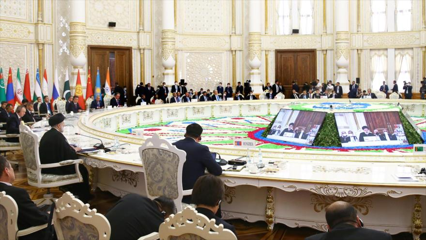 La 21.ª cumbre de Organización de Cooperación de Shanghái (OCS) celebrada en Dushanbé, capital de Tayikistán, 17 de septiembre de 2021. (Foto: President.ir)