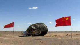 Astronautas chinos regresan a la Tierra tras un viaje de 90 días