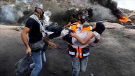 Represión israelí deja decenas de palestinos heridos en Cisjordania