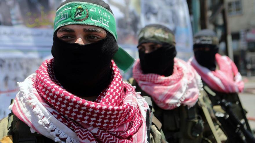 Las Brigadas Ezzedin Al-Qassam, brazo militar de HAMAS, en un desfile militar en Gaza, 17 de mayo de 2015. (Foto: AFP)