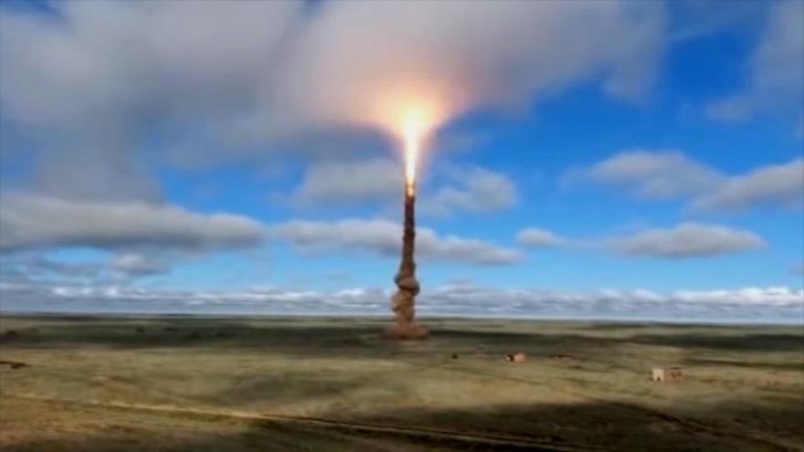 Lanzamiento de prueba de un misil interceptor de largo alcance, que puede estar destinado al S-500 Prometey. (Foto: Ministerio de Defensa de Rusia)