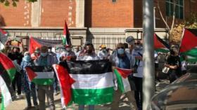 Manifestantes en Madrid piden libertad de presos palestinos