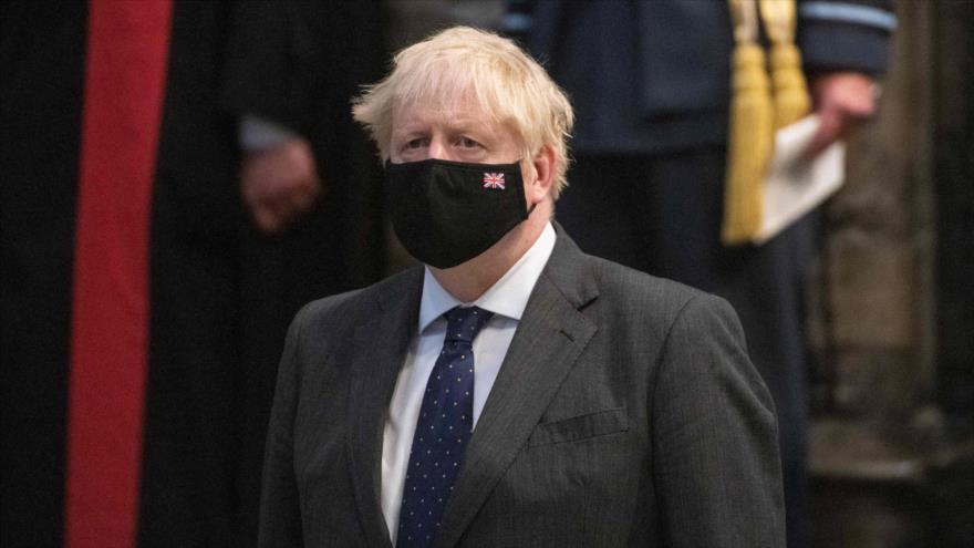 El primer ministro británico, Boris Johnson, en un evento en Londres, capital británica, 19 de septiembre de 2021. (Foto: AFP)