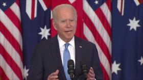 Biden exige dialogar con presidente de Francia acerca de AUKUS