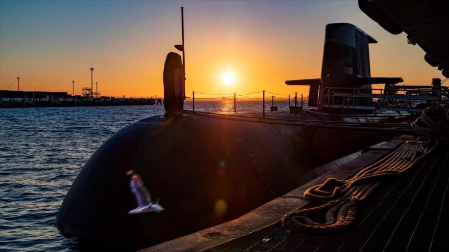 Un submarino de la Armada Real de Australia atracado en HMAS Stirling en Garden Island, 21 de enero de 2021. (Foto: Getty Images)