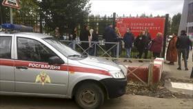 Tiroteo en una universidad de Rusia deja al menos ocho muertos
