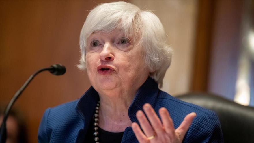 La secretaria del Tesoro de Estados Unidos, Janet Yellen, en un acto en Washington D.C., 23 de junio de 2021. (Foto: Reuters)