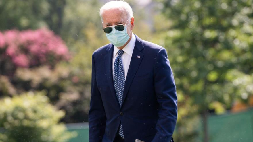 El presidente de EE.UU., Joe Biden, en el jardín sur de la Casa Blanca, 20 de septiembre de 2021. (Foto: AFP)